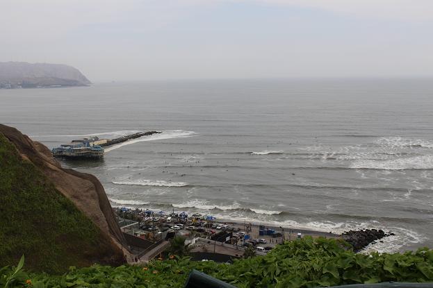 ボリビア・ペルー旅行:リマ ミラフローレス 海岸