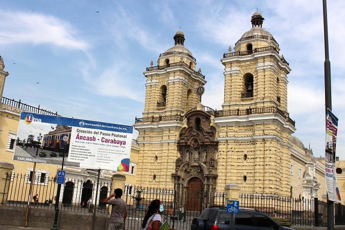 ボリビア・ペルー旅行:リマ 市内観光 サンフランシスコ教会・修道院