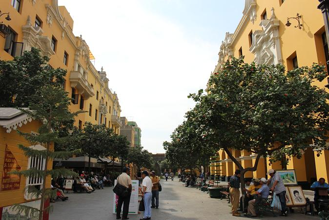 ボリビア・ペルー旅行:リマ 市内観光 マヨール広場