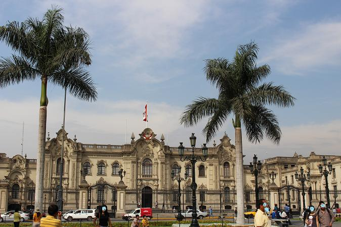 ボリビア・ペルー旅行:リマ 市内観光 大統領官邸