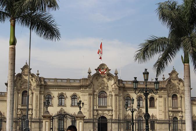 ボリビア・ペルー旅行:リマ 市内観光 大統領官邸2