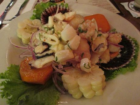 南米旅行:リマ 夕食 セビチェ