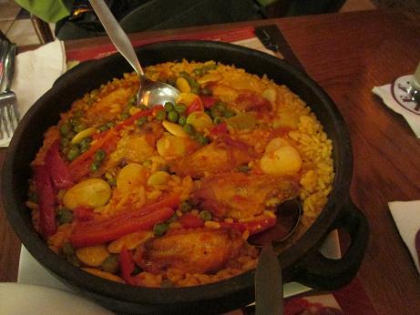 南米旅行:リマ 夕食 パエリア