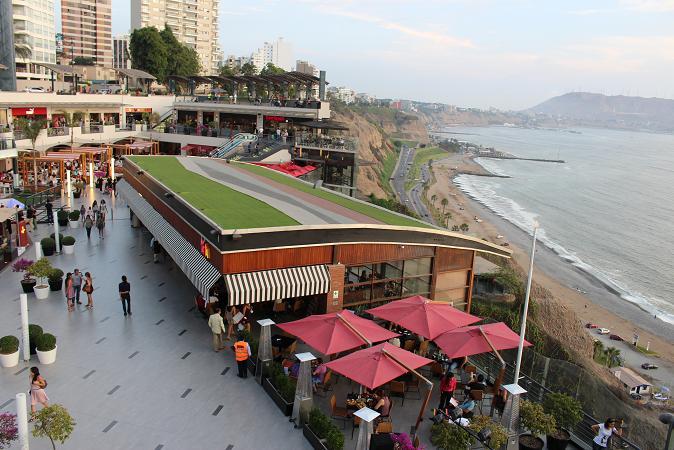 ボリビア・ペルー旅行:リマ ラルコマール・ショッピングセンター