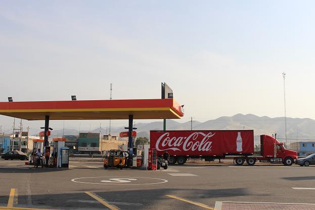 ボリビア・ペルー旅行:ペルー ガソリンスタンド3