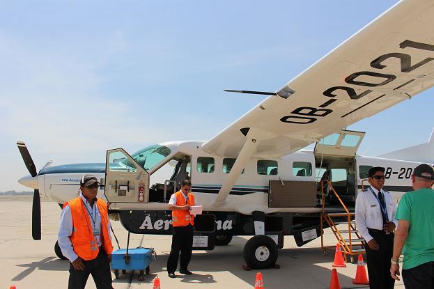 ボリビア・ペルー旅行:ピスコ セスナ機