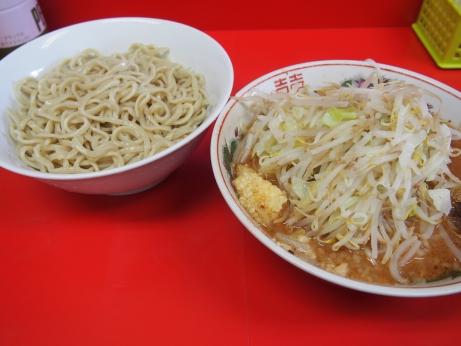 140910_仙台_小ラーメン_つけ麺_ヤサイニンニク