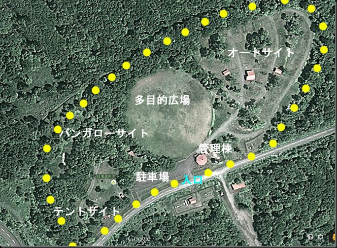 白滝高原キャンプ場-航空写真01