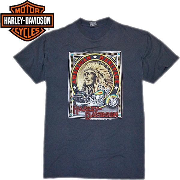 Harley Davidsonハーレー黒Tシャツ@古着屋カチカチ