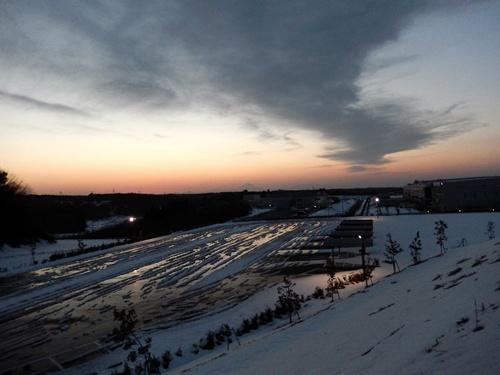 2014.2.16 大雪の夕富士