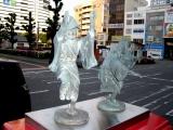 JR徳島駅 ポスト上の阿波踊り像