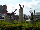 JR豊川駅 狐像
