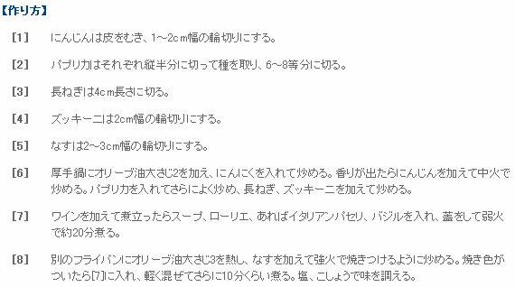 【栗原はるみ 夏野菜の炒め煮】③