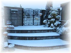 208雪の玄関 ブログ
