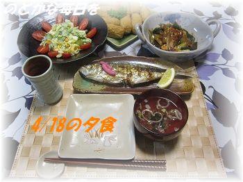 418 夕食 ブログ