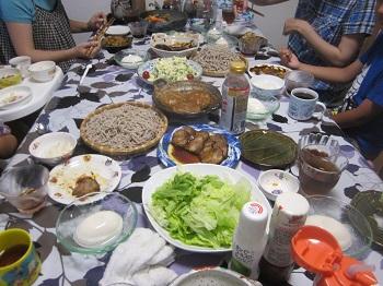 705みんなで囲む夕食 ブログ