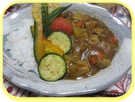 728 夏野菜カレー ブログ