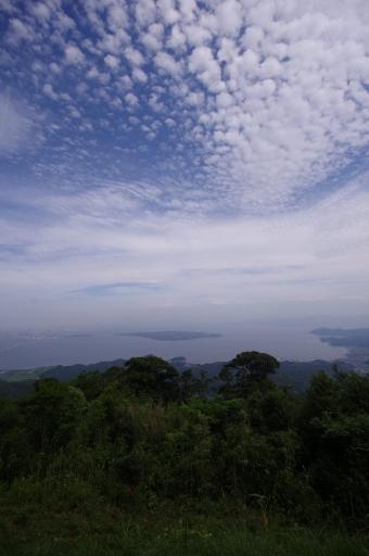 枕木山から見た中海