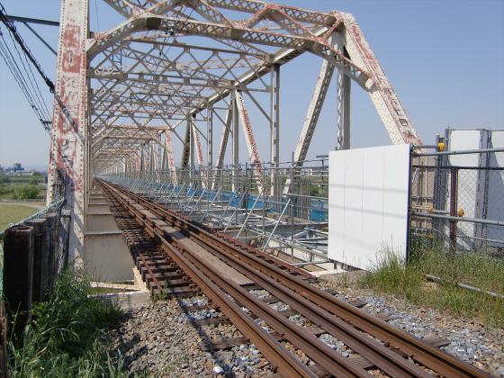 仮橋閉鎖後の赤川鉄橋03