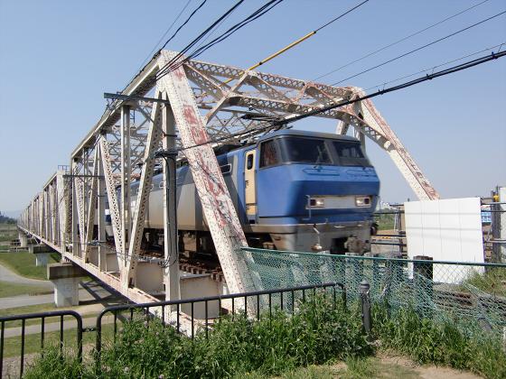 仮橋閉鎖後の赤川鉄橋05