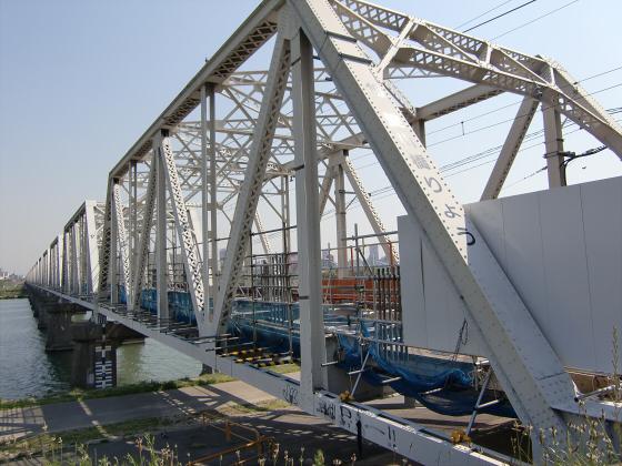 仮橋閉鎖後の赤川鉄橋09