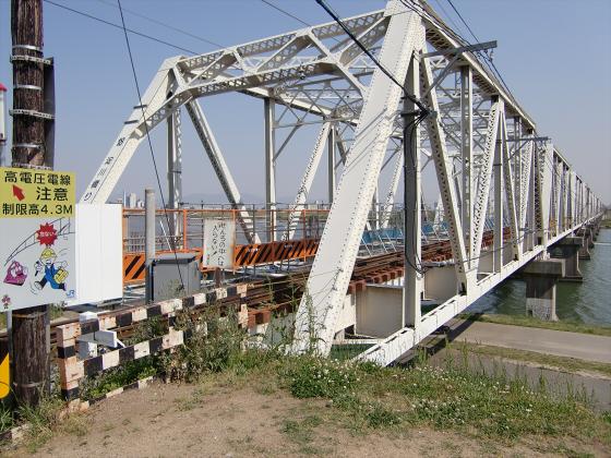 仮橋閉鎖後の赤川鉄橋10