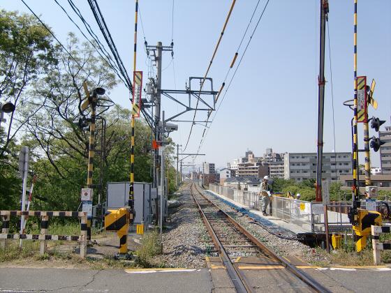 仮橋閉鎖後の赤川鉄橋11