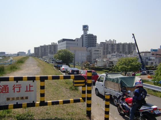 仮橋閉鎖後の赤川鉄橋12