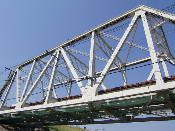 仮橋閉鎖後の赤川鉄橋15