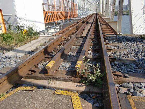 仮橋閉鎖後の赤川鉄橋16
