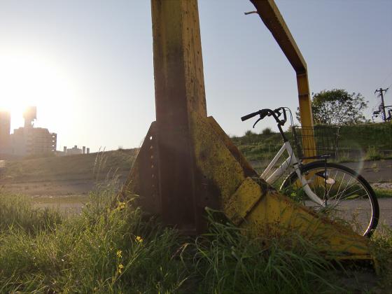 仮橋閉鎖後の赤川鉄橋18