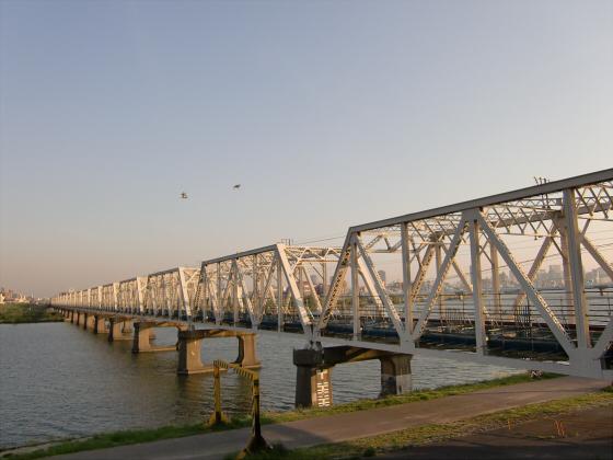 仮橋閉鎖後の赤川鉄橋19