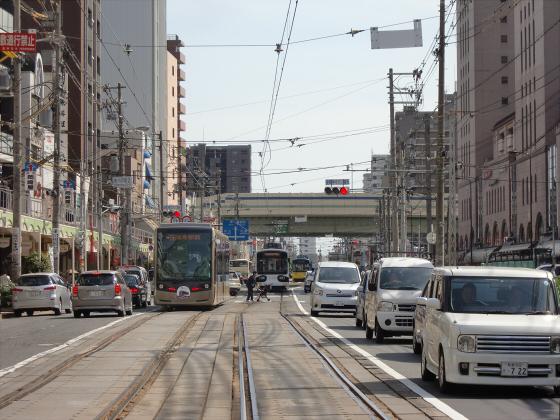 あべのハルカスと阪堺電車04