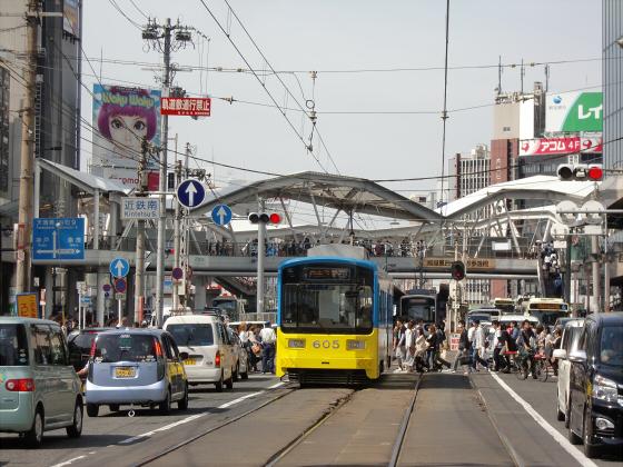 あべのハルカスと阪堺電車05