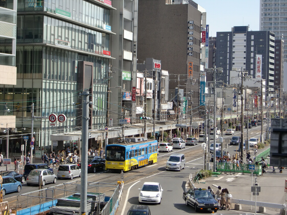 あべのハルカスと阪堺電車06