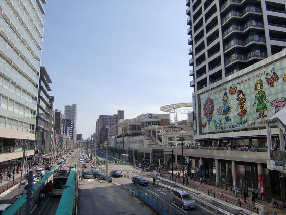 あべのハルカスと阪堺電車18