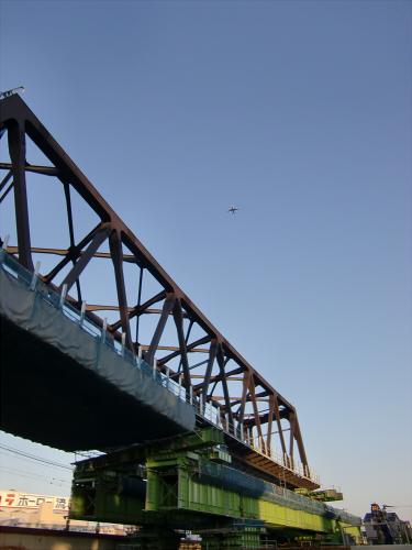 城東貨物と工事中の橋12