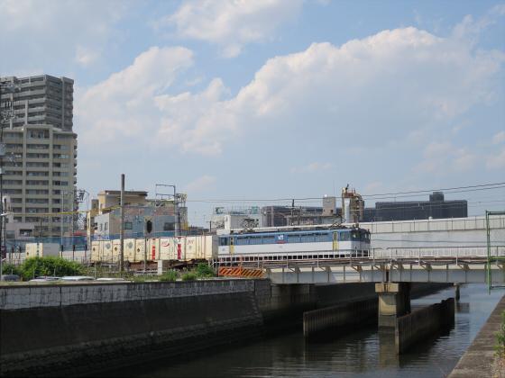 城東貨物と工事中の橋15