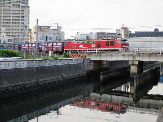 城東貨物と工事中の橋19