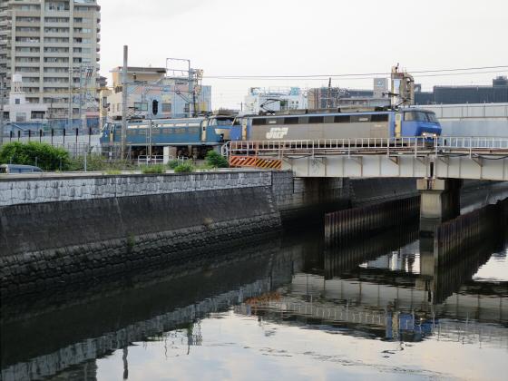 城東貨物と工事中の橋22