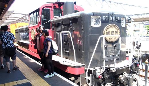 トロッコ列車@嵯峨野&京都鴨川納涼床-1