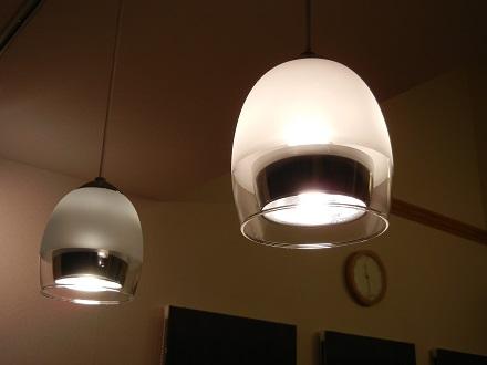 LEDライト下から