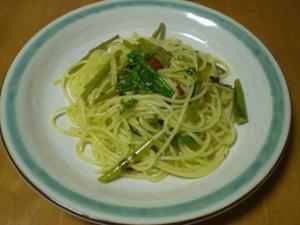 アスパラ菜のパスタ