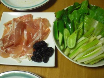 プロシュートとグリーンサラダ