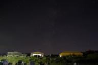 美ヶ原高原美術館と射手座、天の川