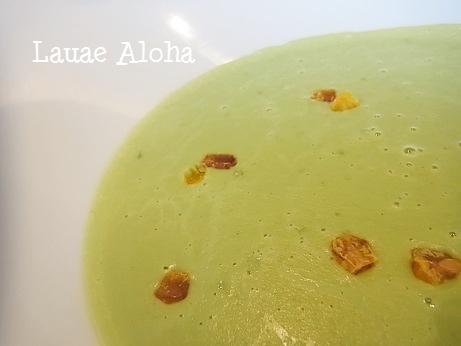 空豆と枝豆のスープ