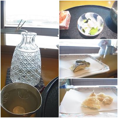 冷酒と天ぷら