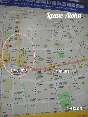 台北車站地下街図