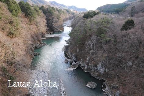鬼怒川の眺め