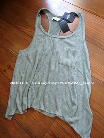 2014年4月  HOLLISTER Co(Point Vicente Drapey Knit Tank - OLIVE